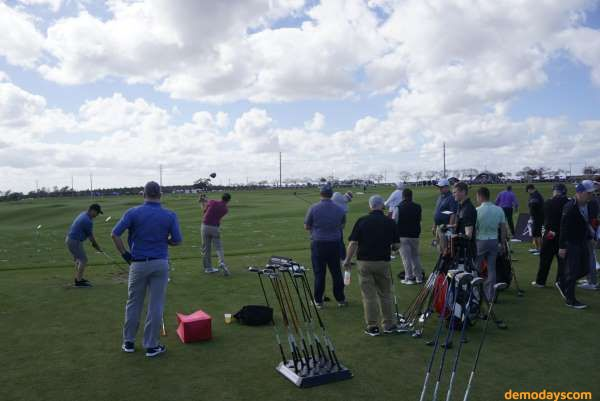 Golf Demo Days on the driving range